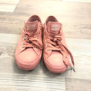 Converse All Star Pink Leather Sneakers 7.5